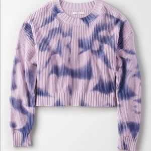 American Eagle   Tie-dye Cropped Sweater   Small